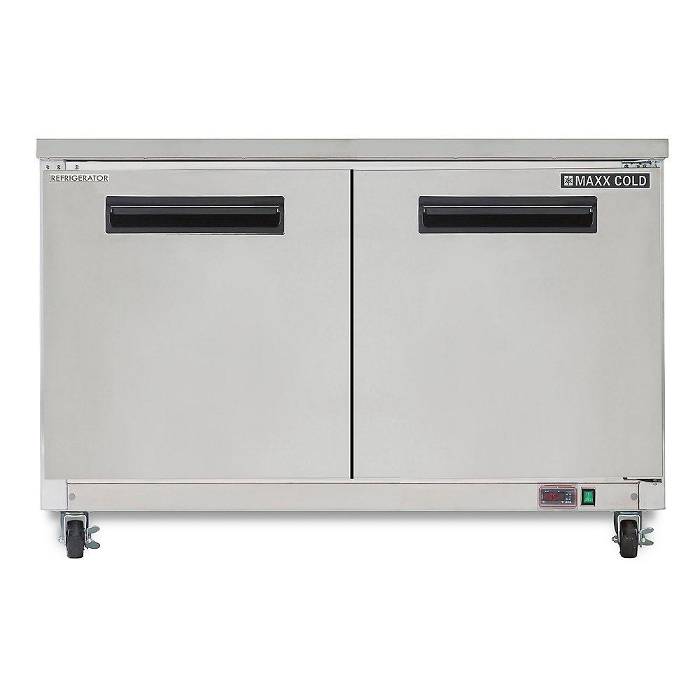Maxx Cold X-Series 12 cu. ft. 2 Door Undercounter Commercial Refrigerator