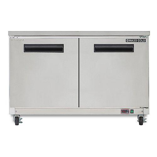 12 cu. ft. 2 Door Undercounter Commercial Refrigerator