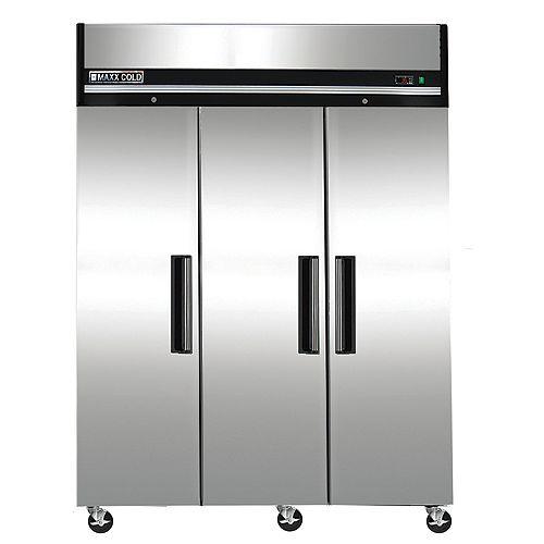 Maxx Cold  Réfrigérateur commerciale 72 pi³ à 3 portes 81 po