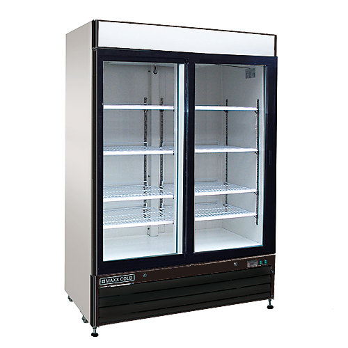 54 inch Reach-in 48 cu.ft Commercial Refrigertator with 2 Sliding Doors