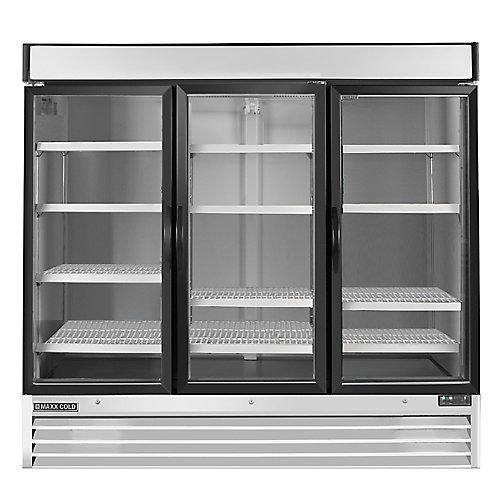 Maxx Cold Congélateur commerciale  d'étalage 72 pi³ à 3 portes 81 po