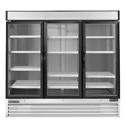 Commercial 81 inch 72 cu.ft Reach-in 3-door Refrigerator