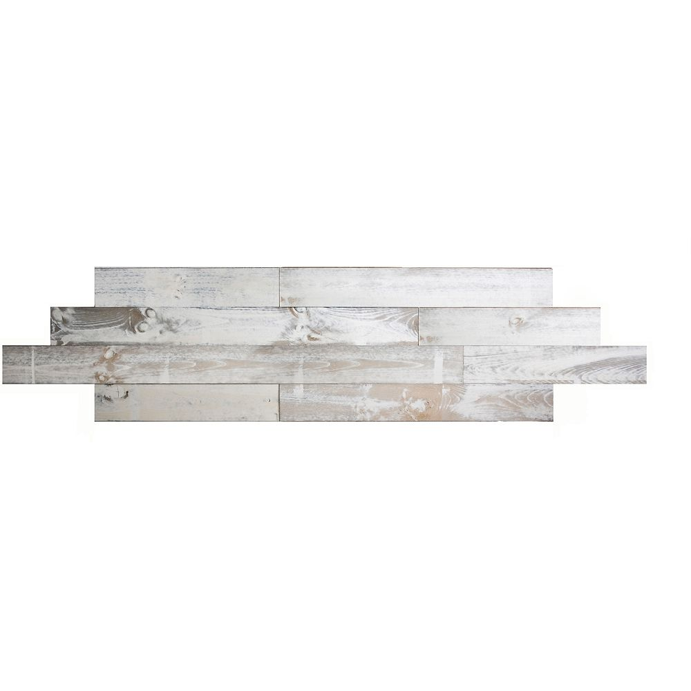Interbois White wash Tongue and groove 2D wood