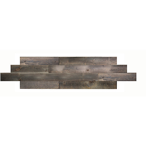Tin grey Tongue and groove 2D wood