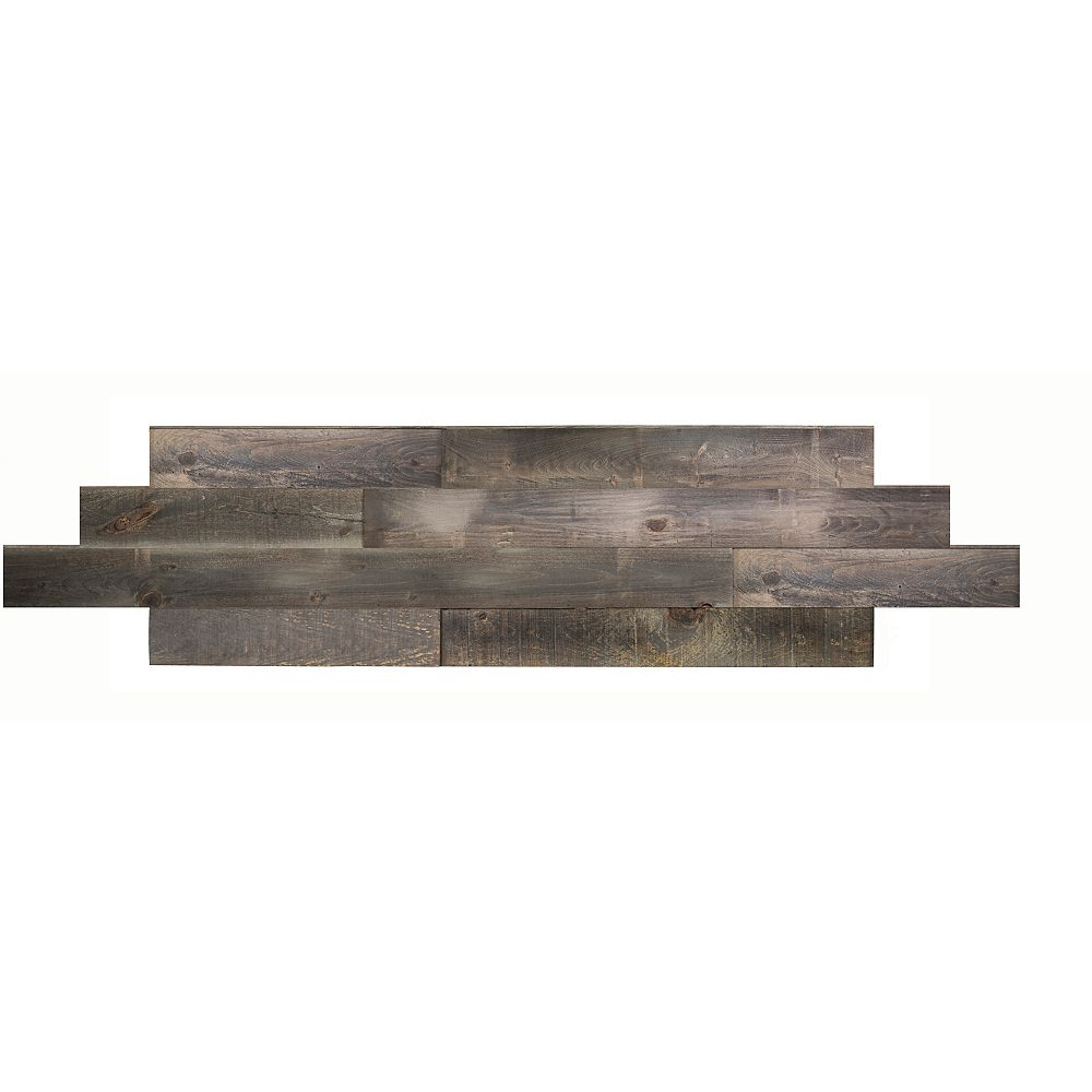 Interbois Tin grey Tongue and groove 2D wood