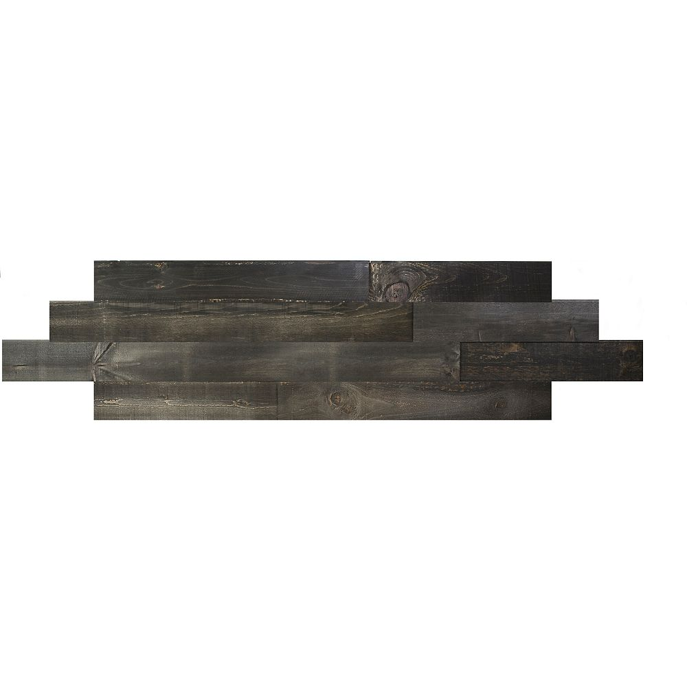 Interbois Charcoal Tongue and groove 2D wood