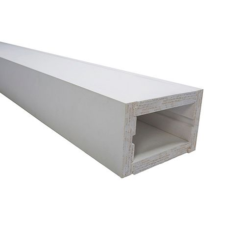 Finger jointed pine white primed reversible faux beam 5-1/2 inch x 4 inch
