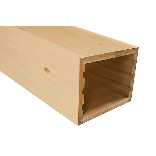 Knotty pine faux beam 7-1/2 inch x 8 inch