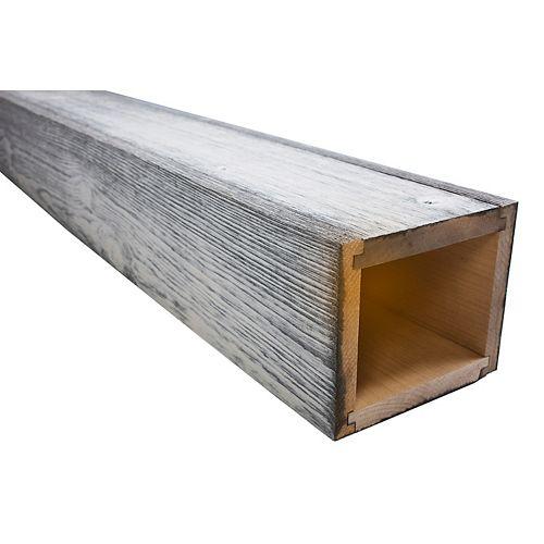 Ôthentik faux beam white wash 5-1/2 inch x 6-1/2 inch x 8'