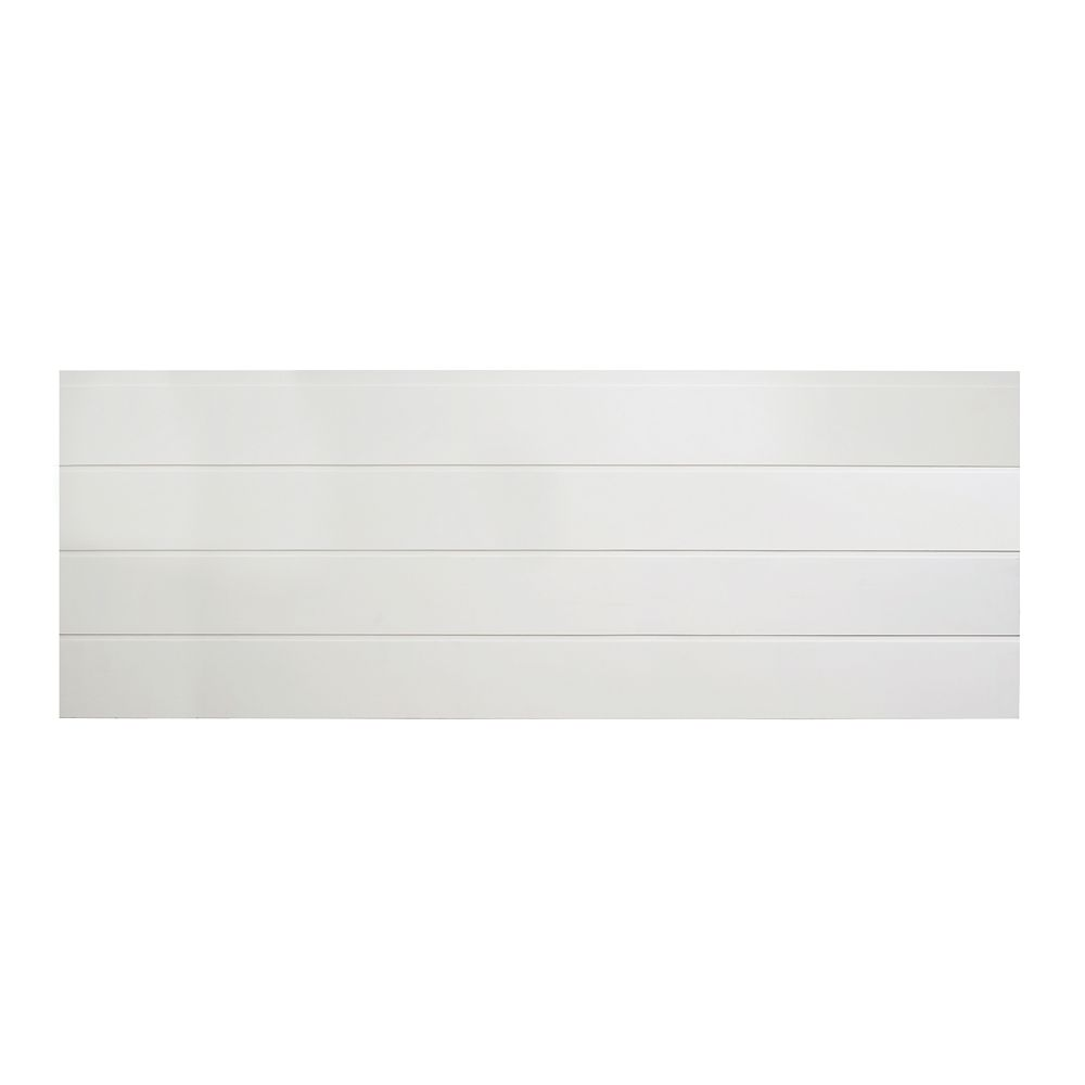 Interbois MDF white primed Shiplap wainscot 9mm x 5-3/4 inch x 96 inch (4 pieces per package)