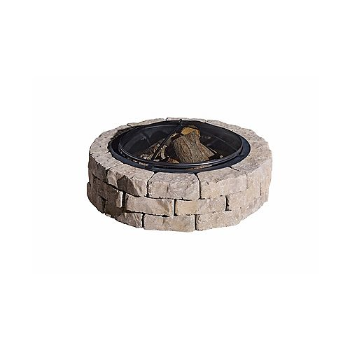 Oldcastle Beltis Firepit Kit w/ Screen Earth Blend