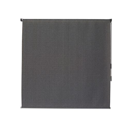Outdoor Crank Roller Shade with 95% UV Protection, (6 ft. x8 ft.) Pewter