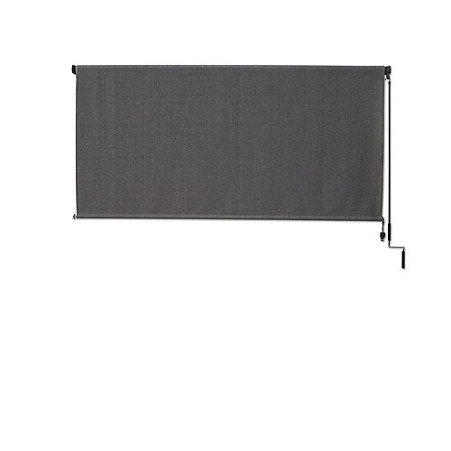 Outdoor Crank Roller Shade with 95% UV Protection, (10 ft. x8 ft.) Pewter