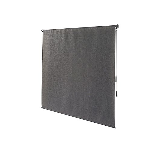 Outdoor Crank Roller Shade with 95% UV Protection, (8 ft. x8 ft.) Pewter