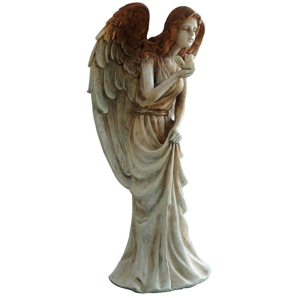 Angelo Décor 20-inch Comp-Cast Isabella Angel Statue