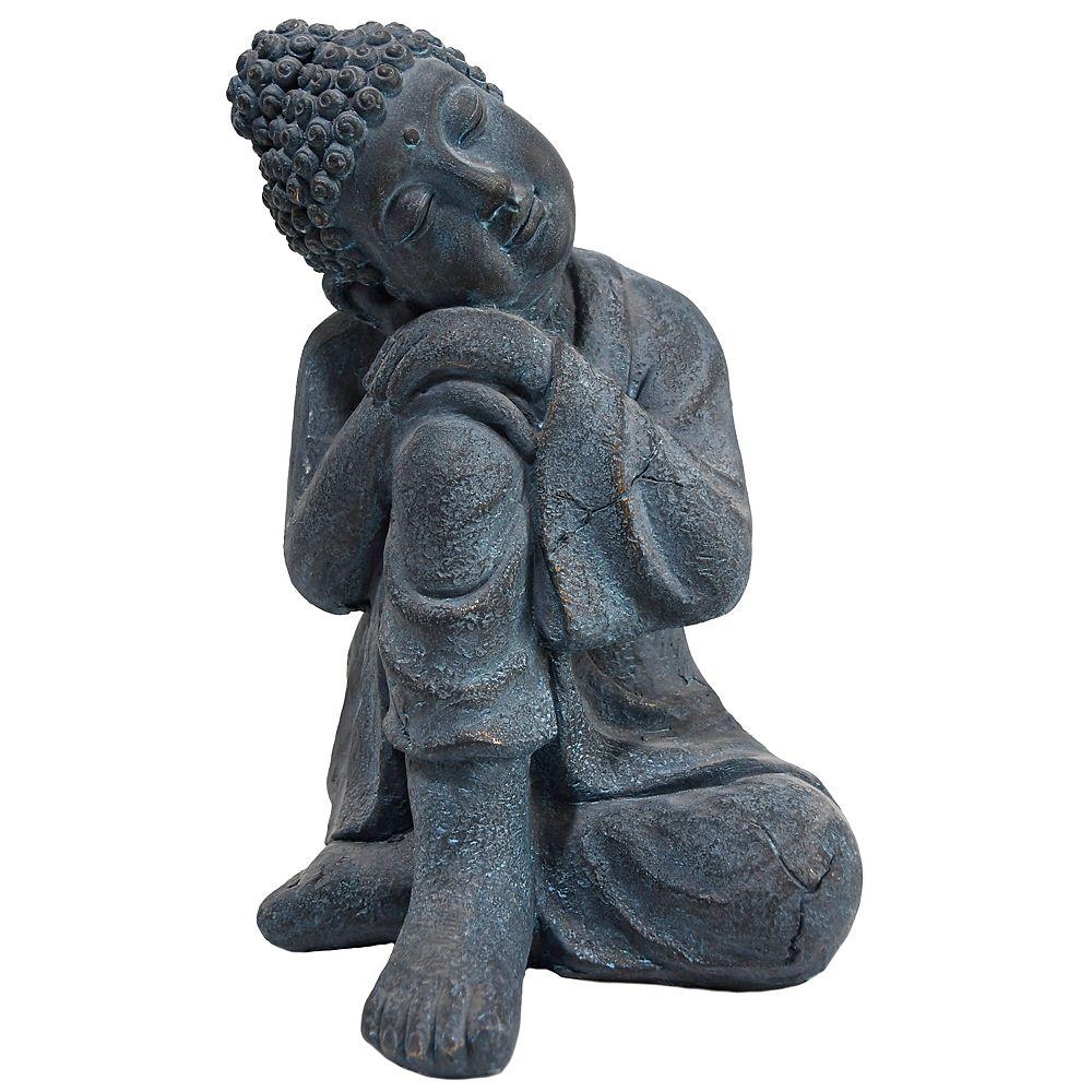 Angelo Décor 16-inch NuCrete Resting Buddha Statue