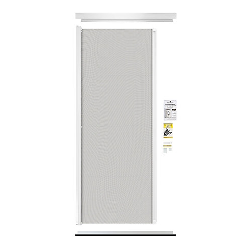 Retractable Screen Single Entrance Door White