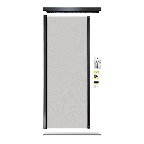 Retractable Screen Single Entrance door black