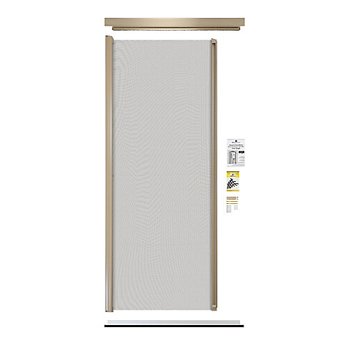 Retractable Screen Single Entrance door sandalwood lg11
