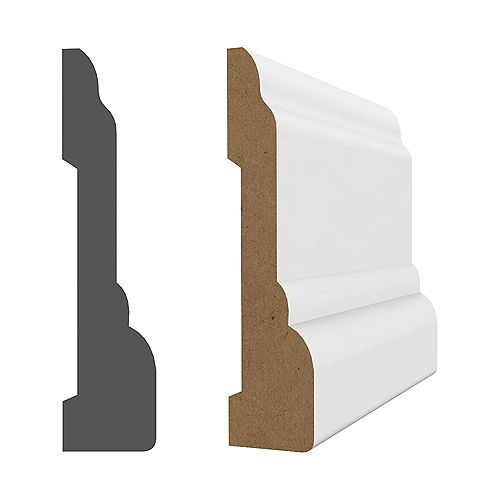 MDF white primed Colonial casing 3/4 inch x 3-1/4 inch x 96 inch
