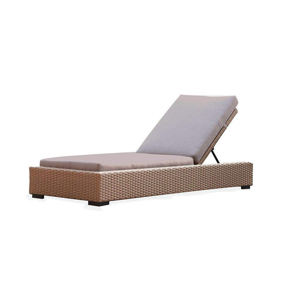 Patio Plus Cabana Chaise Lounge, Beige