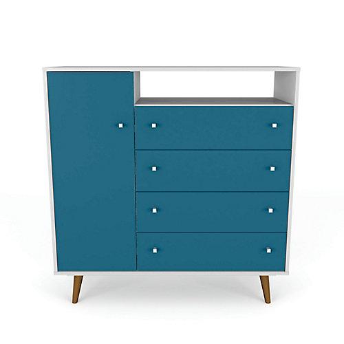 Liberty Sideboard in White and Aqua Blue