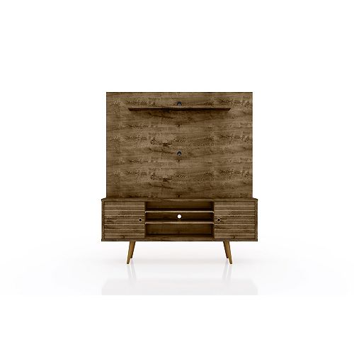 Liberty Freestanding Entertainment Center 63 in Rustic Brown