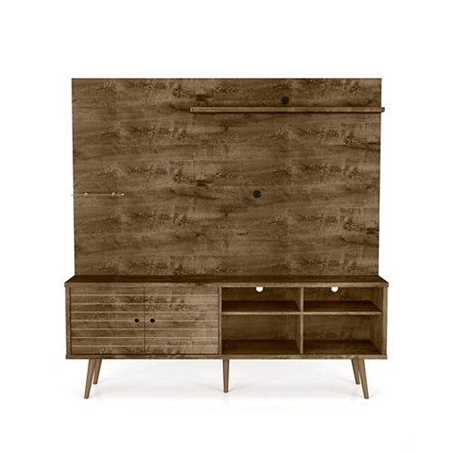 Liberty Freestanding Entertainment Center 70.87 in Rustic Brown