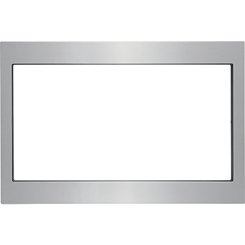 27-inch Trim Kit for Built-In Microwave Oven in Stainless Steel