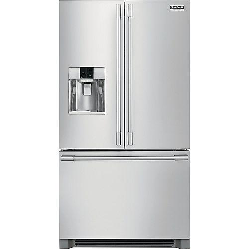 Réfrigérateur à porte française de 36 po W 26,7 pi3 en acier inoxydable - ENERGY STAR®