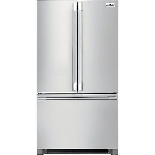 Réfrigérateur à porte française de 36 po W 22,3 pi3 en acier inoxydable, profondeur du comptoir - ENERGY STAR®
