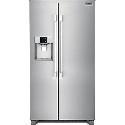 Réfrigérateur de 36 po W 22 pi. cu. côte à côte en acier inoxydable, profondeur du comptoir - ENERGY STAR®