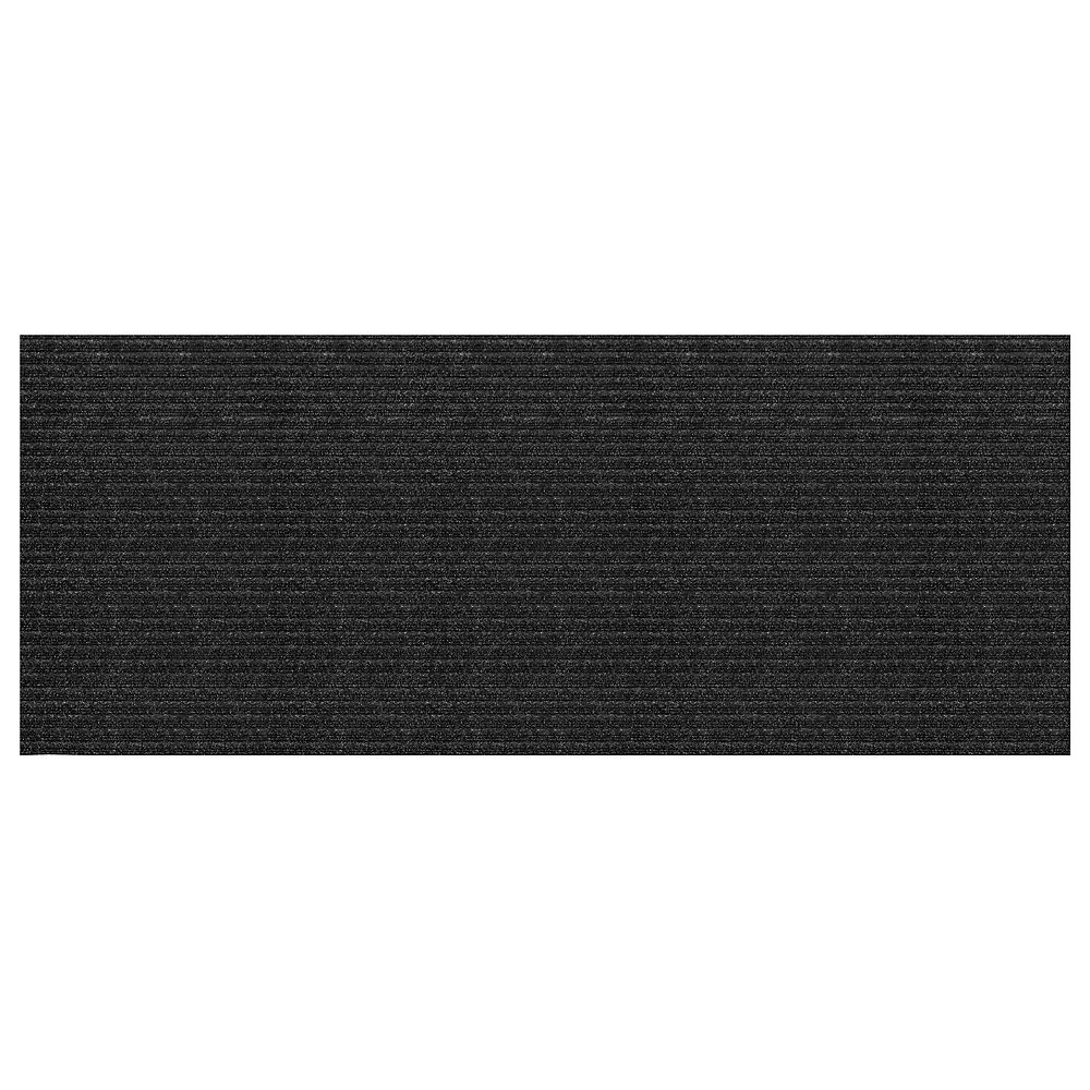 Multy Home Concord Charcoal 2 ft. x 5 ft. Needlepunch Floormat Runner