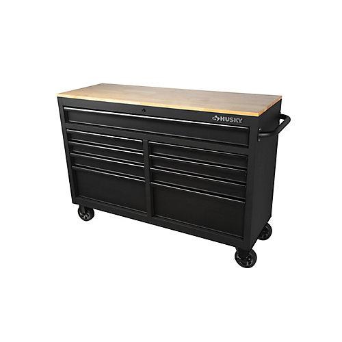 52 inch 9-Drawer Mobile Work Center - Textured Black