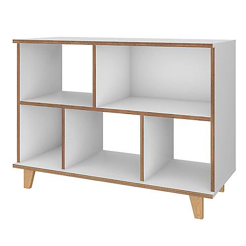 Minetta Low Bookcase in White