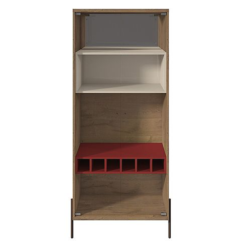 Joy Wine Cabinet in Red