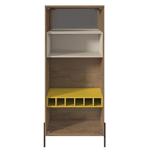 Joy Wine Cabinet in Yellow