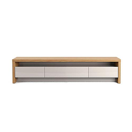 """Sylvan 70.86 """"meuble TV en bois naturel et blanc cassé"""