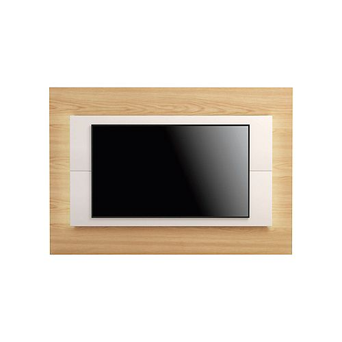 """Sylvan 70.86"""" TV Panel in Nature Wood and Off White"""