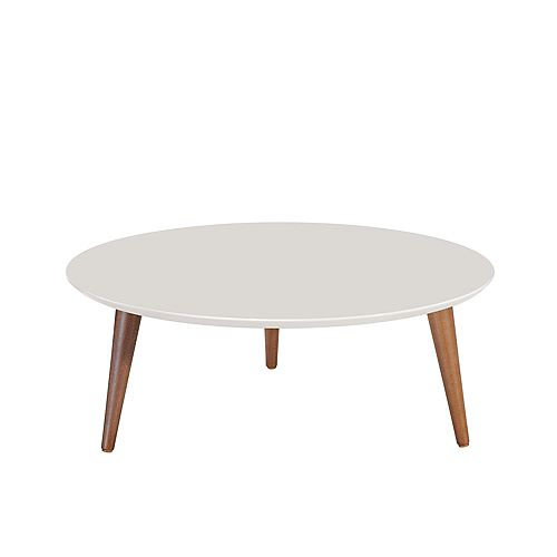 """Moore 23.62"""" Round Low Coffee Table in Off White"""