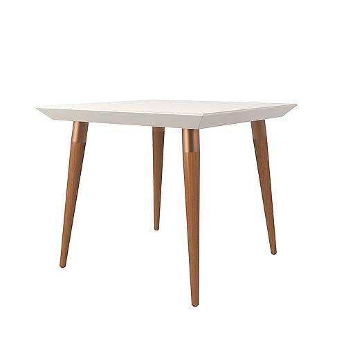 "Manhattan Comfort Utopia 35.43"" Square Dining Table in Off White"