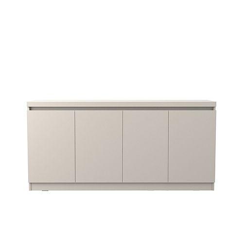 Viennese 62.99 in. 6- Shelf Buffet Cabinet in Off White