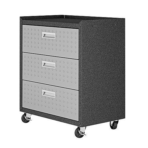 """Manhattan Comfort Fortress 31.5"""" Mobile Garage Chest with Drawers"""