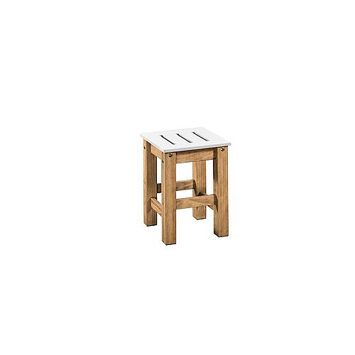 "Stillwell 17.7"""" Barstool in Gray and Natural Wood (Set of 2)"