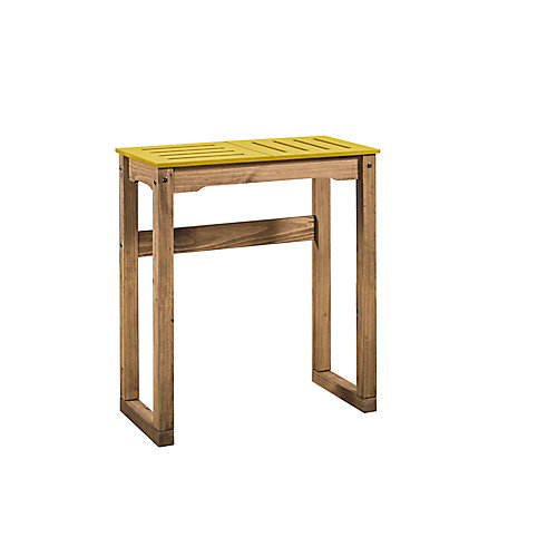 """Stillwell 31.5"""" Bar Table in Yellow and Natural Wood"""