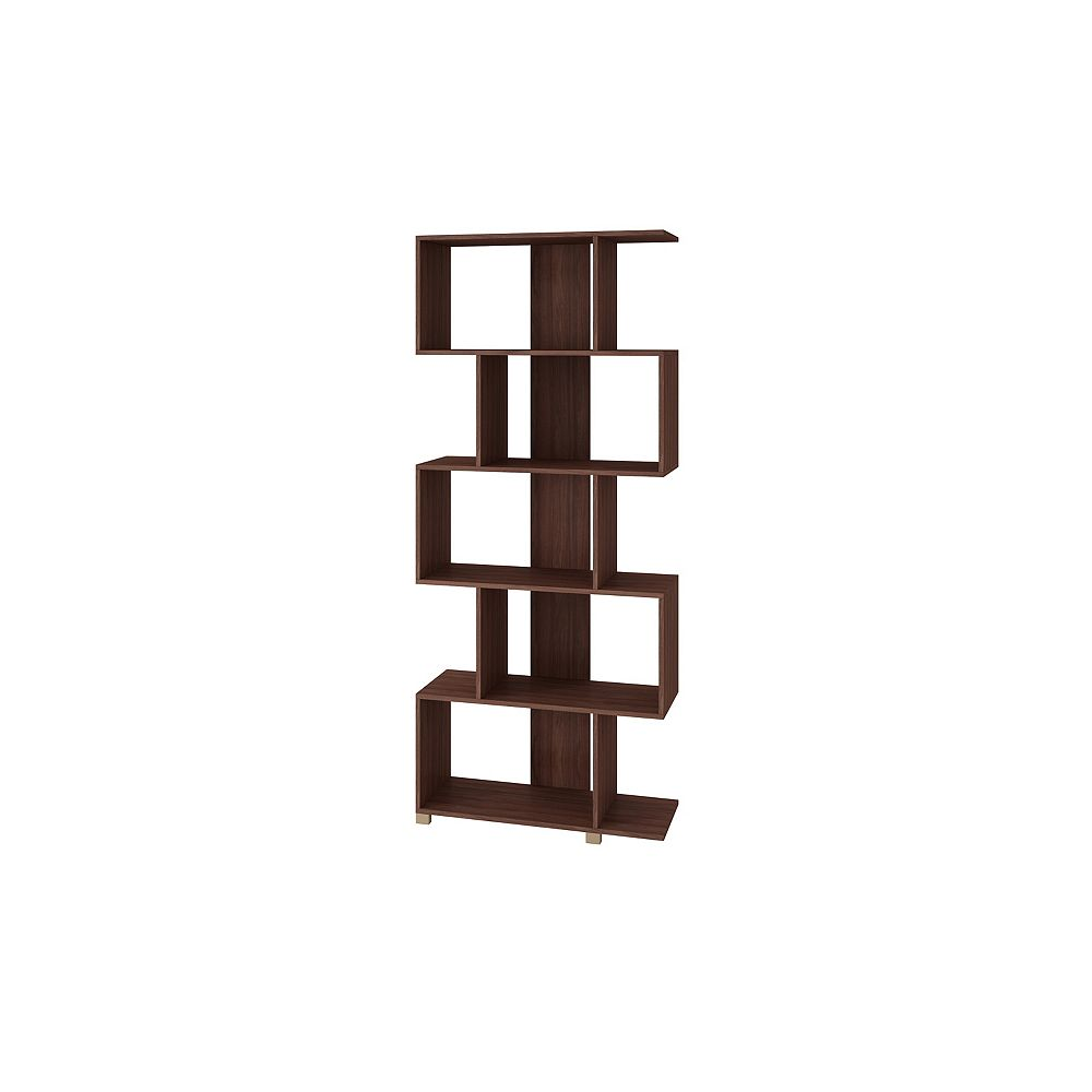Accentuations by Manhattan Comfort Petrolina Z- Shelf  with  5 shelves in Tobacco