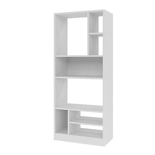 Valenca 3.0 Bibliothèque avec 8 étagères en blanc