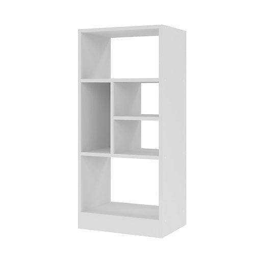 Valenca 2.0 Bibliothèque avec 5 étagères en blanc