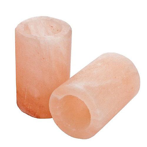 Himalayan sel verres à liqueuravec inserts en plastique - Ensemble de 2