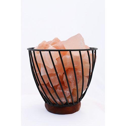7 pouces Himalayan lampe de panier câblée 3.0 avec des roches naturelles avec gradateur